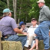 Pierre and Todd respond to questions about the farm and the land management.