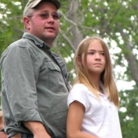 Farm manager Todd Richardson shared his tour guide duties with his daughter Jessie.