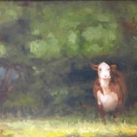 """""""Hereford at Hersey Farm"""" by J. Koron #78 Hersey Family Farm Easement"""