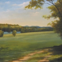 """""""The Pond Across the Meadow"""" by Ron Brown #95 Star Lake Farm Easement"""