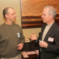 Land Protection Specialist, Andy Deegan with John Garvey