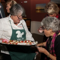 Special Events volunteer, Cindy Lawson enjoys mingling with guests