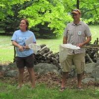 Carrie and Andy introduce the event at the 2014 Sahler property in Wilmot