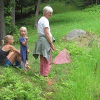 Ann Harris with her grandchildren at the Sahler's