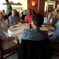 Jen Ellis and Peter Guest's table