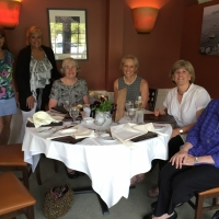 Sue Andrews and Peggy Hutter's table