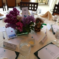 Table setting in the Sargent Room