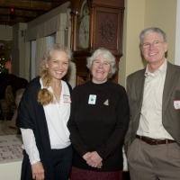Staff member Sue Andrews (middle) with Debbie and Bob Zeller.
