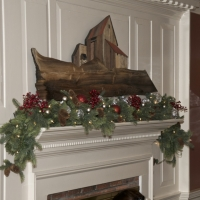 The Inn was festively decorated.