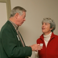Chris Cundey, Chair, and Nancy Teach, Vice-Chair in 2005-2006.