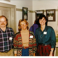 L-R, Pierre Bedard, Susie Sanders and Terri Jillson White, all trustees for Ausbon Sargent.  Susie Sanders was the Vice-Chair in 2001-2002 and served as Chair in 2003.