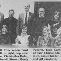 This photo of the Founding Board of Ausbon Sargent appeared in the local newpaper.
