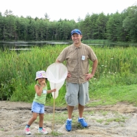 Andy Deegan has a great time sharing his interests on one of his summer Dragonfly Hikes