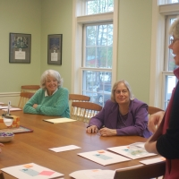Sue Andrews organizes her volunteers for the annual Phone-a-thon
