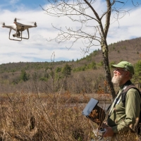 Peter Bloch documented this hike using his drone technology.  Photo by Garrett Evans.