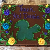 Doug Lyon provided the Anniversary cake