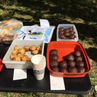 And, as always, the treats at the end of a good Ausbon Sargent hike.