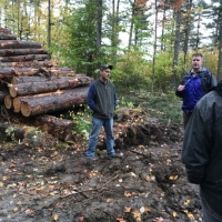 Forester Jeff Snitkin explains the logging endeavor
