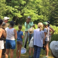 The participants at our Esther Currier Wildlife Management Area (Low Plain) Dragonfly event.