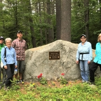 For each staff birthday around the year, we try to hike one of our protected properties and stop for a picnic lunch.  This year for Andy and Debbie Stanley's birthday (the same day in June), we hiked the Webb Trail in Sunapee.