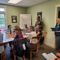 In June Sue Andrews and Andy Deegan host a monitoring workshop to train prospective easement monitors.  With our increasing number of protected properties, we are always in need of able bodies to walk these properties in the fall.  Maybe you'll consider joining us?