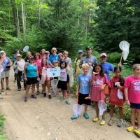"The participants at our Sawyer Brook Headwaters dragonfly event say, ""Wish You Were Here""!"