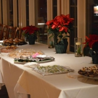 Thanks to the many area restaurants who provide food for our festive Holiday Party