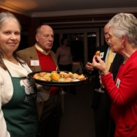 Guests enjoy the passed hors d'oeuvres at the Holiday Party--Thanks, Dan Wolf