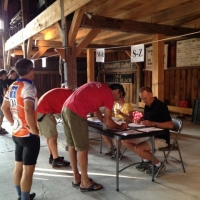 Registrants check-in for the Kearsarge Klassic Bike at the NLHS