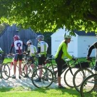 Riders ready their bikes