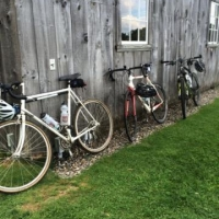 Bikes at the barn during registration
