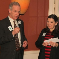 John Garvey and Debbie Stanley announce the successful completion of the Saving Land for Tomorrow campaign.
