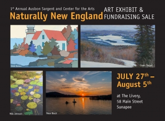 Naturally New England Art Exhibit and Fundraising Sale Postcard